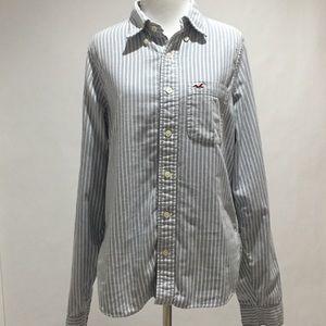Hollister Button down stripe shirt
